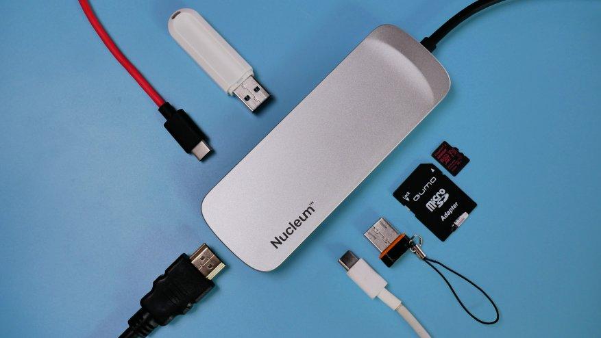 مراجعة Kingston Nucleum مع USB Type-C: زيادة عدد المنافذ في الكمبيوتر المحمول إلى 7 10