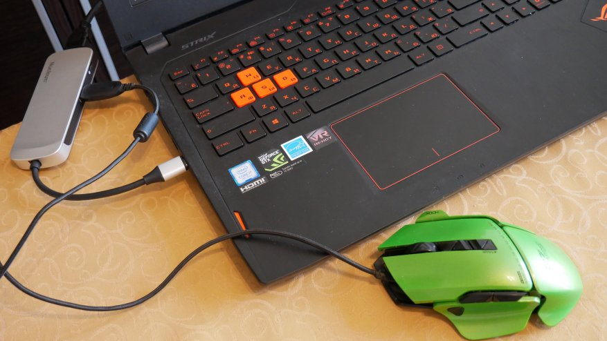 مراجعة Kingston Nucleum مع USB Type-C: زيادة عدد المنافذ في الكمبيوتر المحمول إلى 7 11