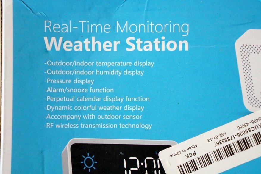 Simsiz sensoru olan Igeress WP6850 hava stansiyası 3