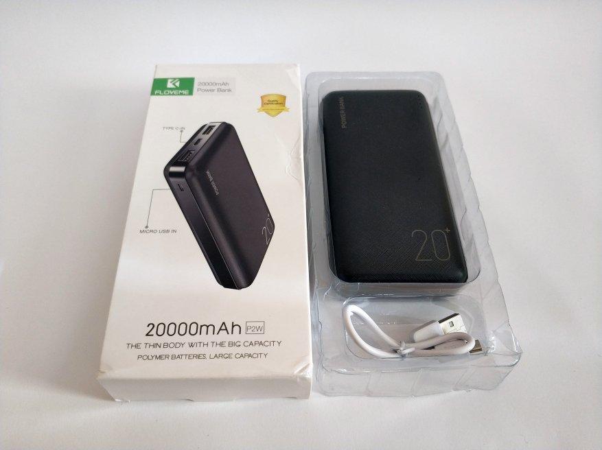 Floveme Portable Power Bank 20000 mAh Batería 3