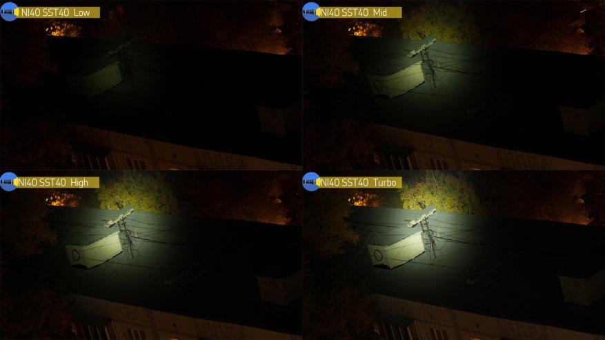 مصباح يدوي قوي بعيد المدى Nightwatch NI40 Stalker: SST40 LED وبطارية 26650 45