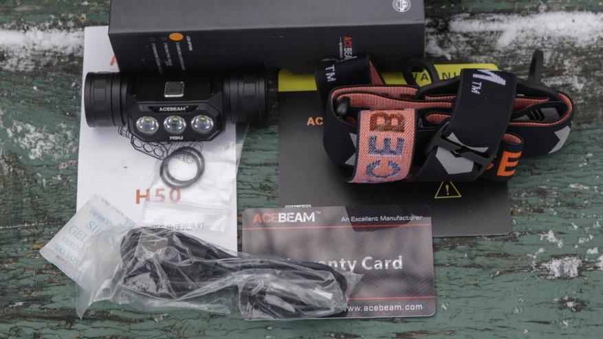 Acebeam H50: مصباح أمامي ساطع مدمج به ثلاثة مصابيح LED 3