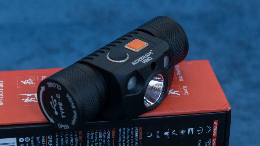 Acebeam H50: مصباح أمامي ساطع مدمج به ثلاثة مصابيح LED 4
