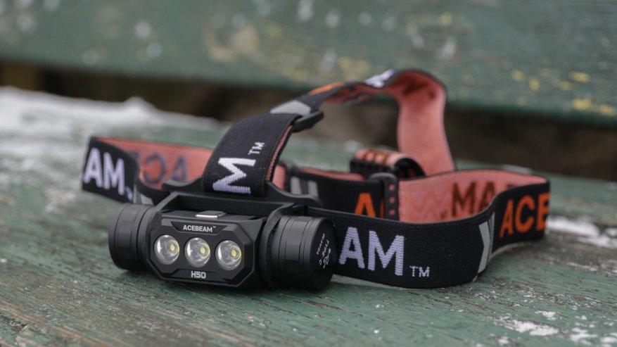 Acebeam H50: مصباح أمامي ساطع مدمج به ثلاثة مصابيح LED 19