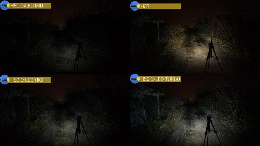 Acebeam H50: مصباح أمامي ساطع مدمج به ثلاثة مصابيح LED 33