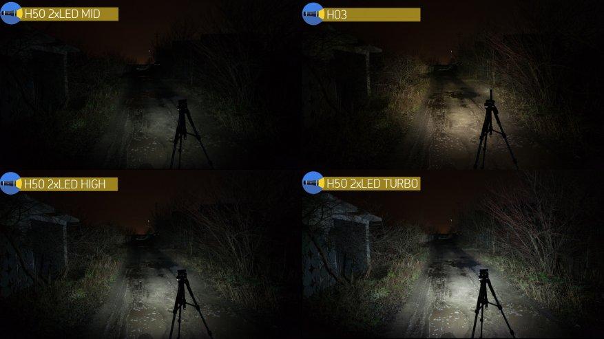 Acebeam H50: مصباح أمامي ساطع مدمج به ثلاثة مصابيح LED 34