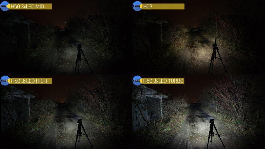 Acebeam H50: مصباح أمامي ساطع مدمج به ثلاثة مصابيح LED 35