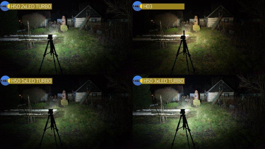 Acebeam H50: مصباح أمامي ساطع مدمج به ثلاثة مصابيح LED 32