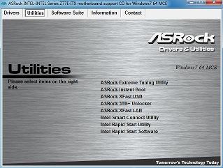 Комплект ПО материнской платы ASRock Z77E-ITX