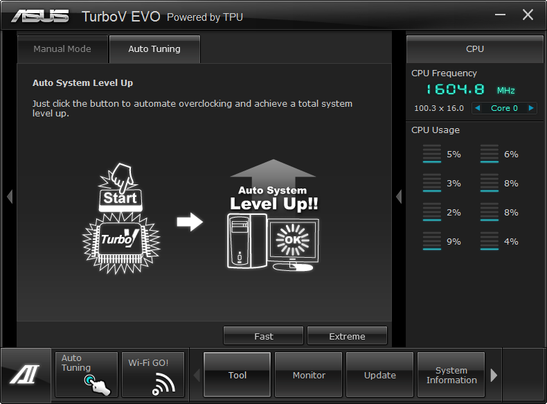 How to auto overclock intel cpu in extreme tuning utility car