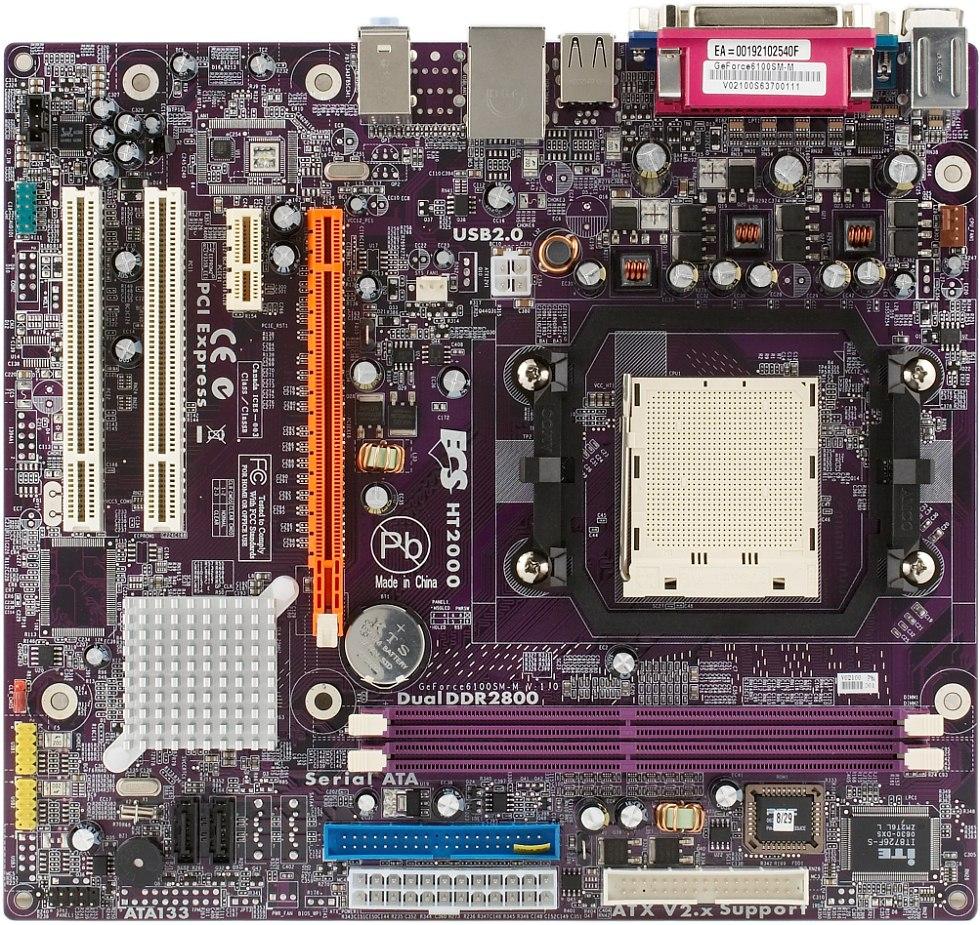 ECS GeForce6100SM-M — системная плата на базе чипсета NVIDIA GeForce
