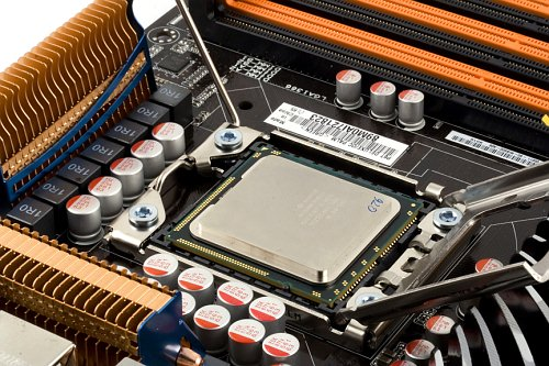 Core i7 processor installed into the socket