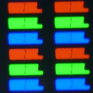 Экран моноблока Lenovo A740, Микрофотографии матрицы