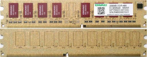 DDR memory modules feature analisys. Part 1: Kingmax DDR-466