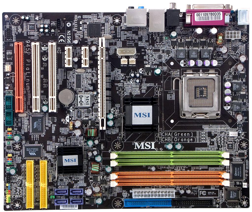 Msi 945p Neo Platinum  U2014 A Motherboard Based On Intel 945p