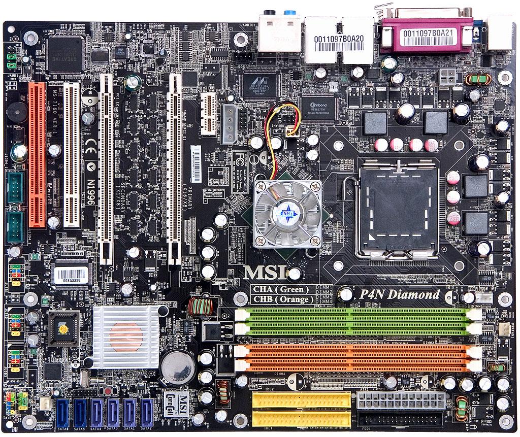 MSI P4N Diamond – a Motherboard Based on NVIDIA nForce4 SLI