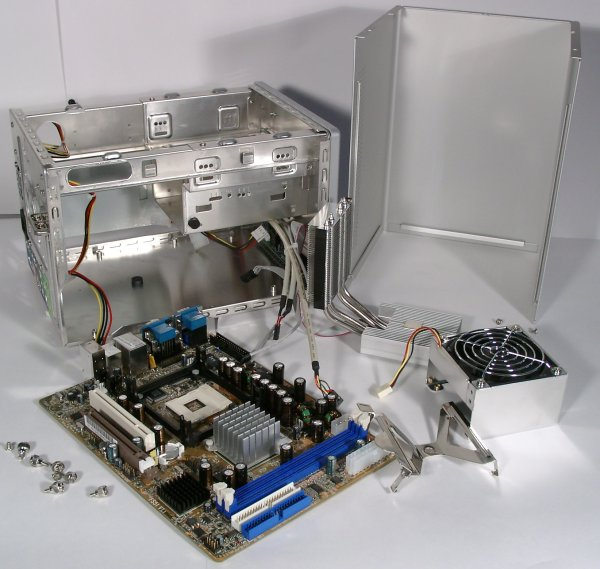 An Opened System Unit The