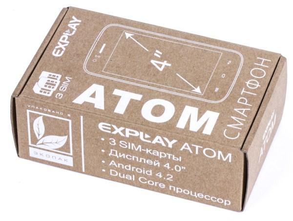 Коробка смартфона Explay Atom