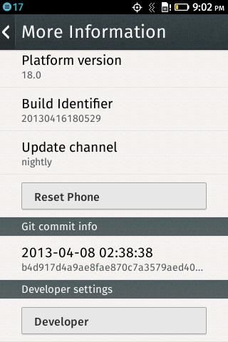 Скриншот Скриншот Firefox OS