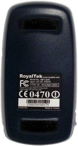 Royaltek BlueGPS RBT-3000 снизу