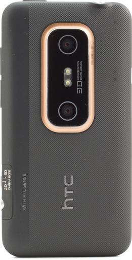 Обзор HTC Evo 3D. Обратная сторона корпуса