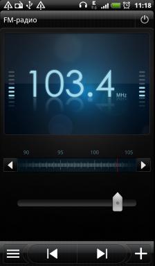 Обзор HTC Evo 3D. Скриншоты. Радиоприемник, ручная настройка частоты