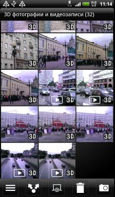 Обзор HTC Evo 3D. Скриншоты. Альбом