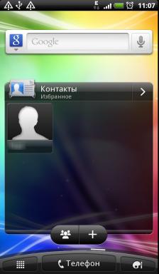 Обзор HTC Evo 3D. Скриншоты. Вторая вкладка основного экрана