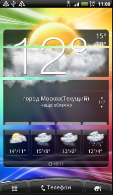 Обзор HTC Evo 3D. Скриншоты. Четвертая вкладка основного экрана