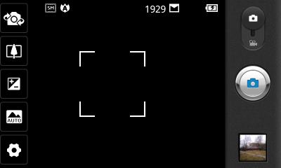 Обзор LG Optimus Sol. Скриншоты. Программа управления камерой. Съёмка фото.