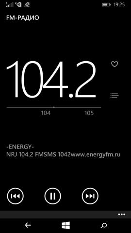 Обзор Microsoft Lumia 640. Скриншоты. FM-радио