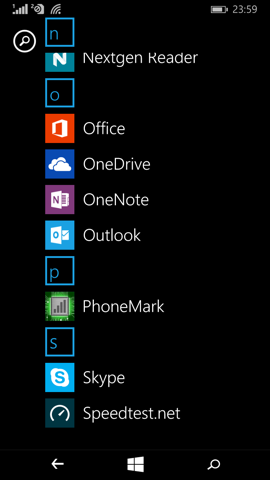 Обзор Microsoft Lumia 640. Скриншоты. Облик операционной системы
