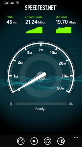 Обзор Nokia Lumia 930. Скриншоты. Скорость 4G