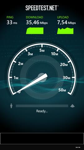 Обзор Nokia Lumia 930. Скриншоты. Скорость Wi-Fi
