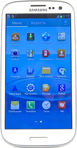 Обзор Samsung Galaxy S 3. Лицевая панель коммуникатора