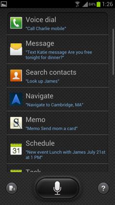 Обзор Samsung Galaxy S 3. Скриншоты. Список приложений поддерживаемых S Voice