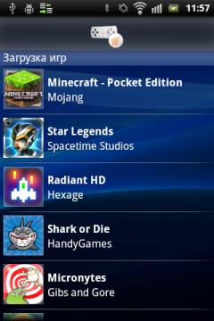 Обзор Sony Ericsson Xperia mini pro. Скриншоты. Загрузка игр