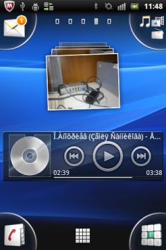 Обзор Sony Ericsson Xperia mini pro. Скриншоты. Основной экран системы, четвёртая вкладка