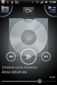 Обзор Sony Ericsson Xperia mini pro. Скриншоты. Аудиопроигрыватель