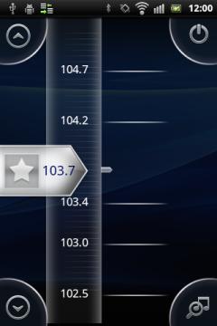Обзор Sony Ericsson Xperia mini pro. Скриншоты. Радио, выбор частоты