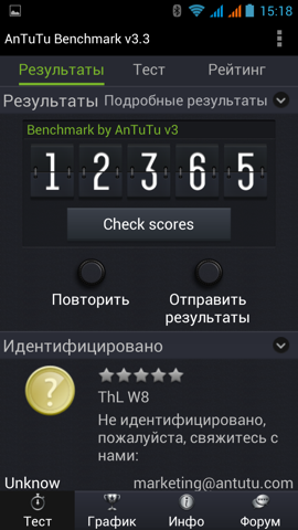 Обзор ThL W8. Скриншоты. AnTuTu