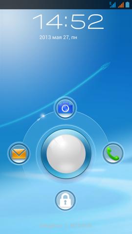 Обзор ThL W8. Скриншоты. Экран блокировки