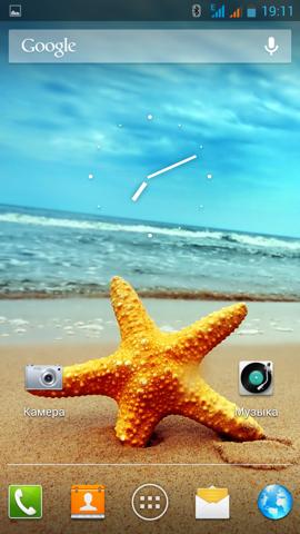 Обзор ThL W8. Скриншоты. Виджет Яндекса