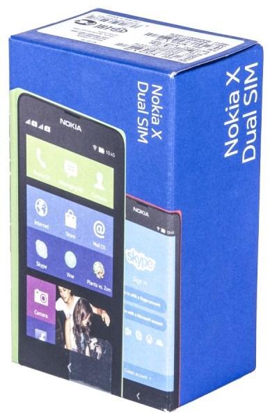 Коробка смартфона Nokia X