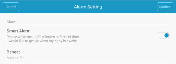 Скриншот приложения Xiaomi Mi Band