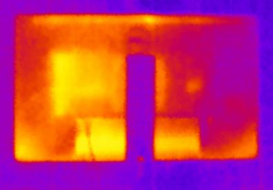 ЖК-монитор Dell UltraSharp U2715H. Нагрев задней панели
