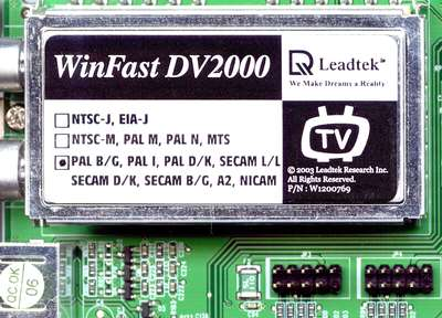 Leadtek WinFast DV2000 Drivers for Windows Mac
