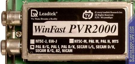 LEADTEK WINFAST PVR2000 DRIVER DOWNLOAD