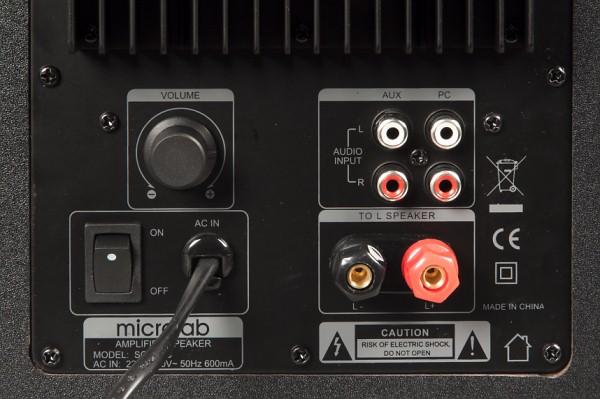 Задняя панель Microlab Solo 6C