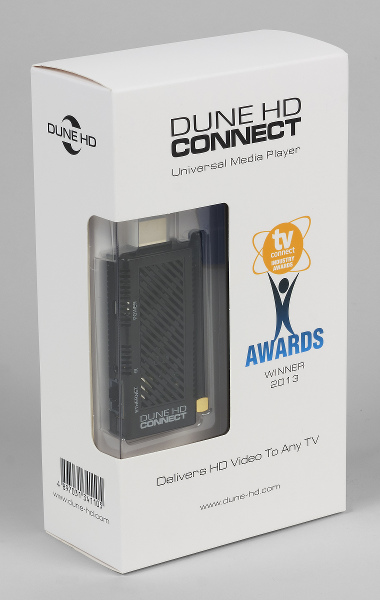 Упаковка плеера Dune HD Connect